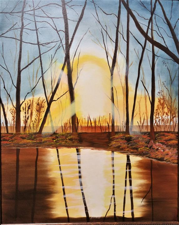 Fall sunset - Paint by Vlad