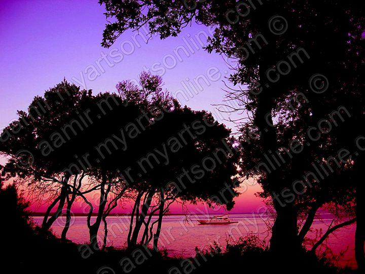 Sunset at St.Andrew Island. Croatia - Aamir Show