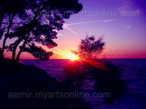 *Middeterian Sea Sunset* canvas