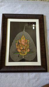 Golden chaturbhuj ganesha