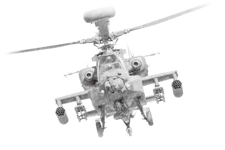 Apache Attack Helicopter - MILITARY PHOTO PRINTS  UK