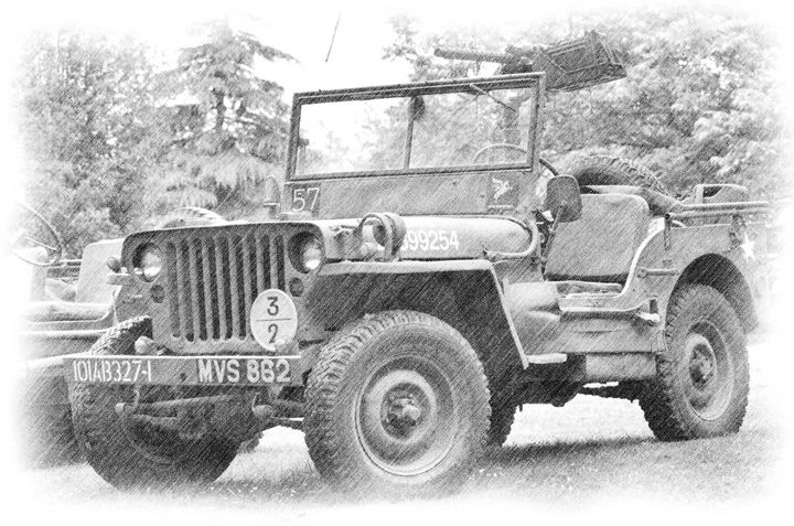 WILLYS JEEP - MILITARY PHOTO PRINTS  UK