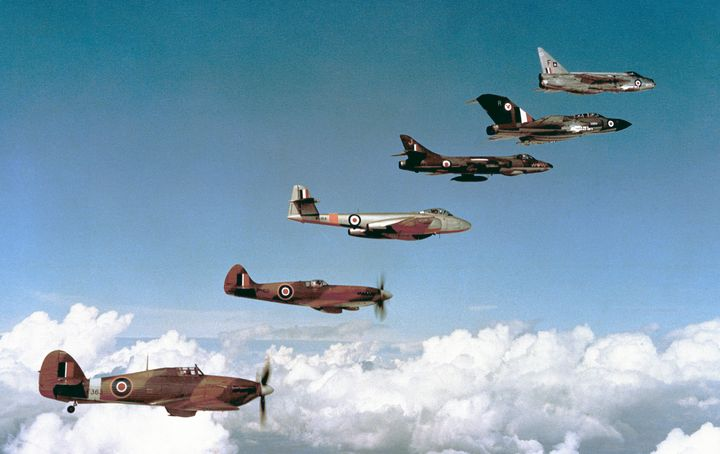 RAF HISTORIC FLIGHT FORMATION - MILITARY PHOTO PRINTS  UK