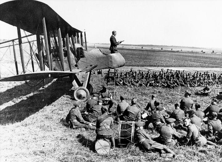 WW1 RFC Sermon - MILITARY PHOTO PRINTS  UK