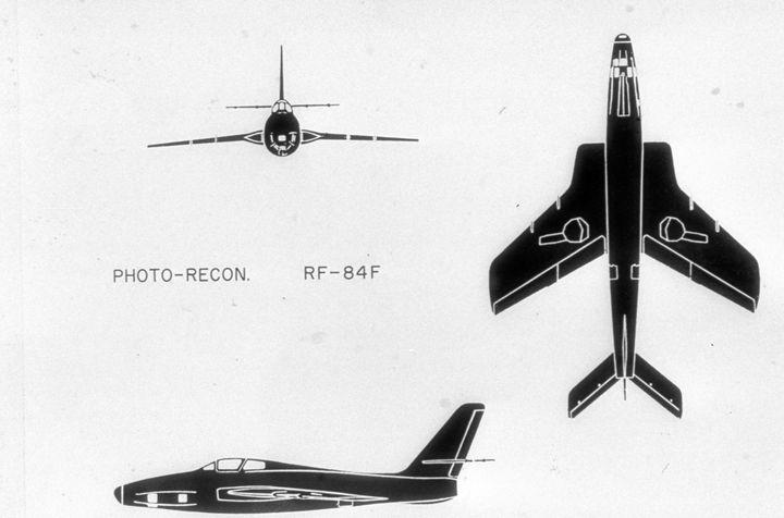 2101 RF-84F THUNDERFLASH USAF RECON - MILITARY PHOTO PRINTS  UK
