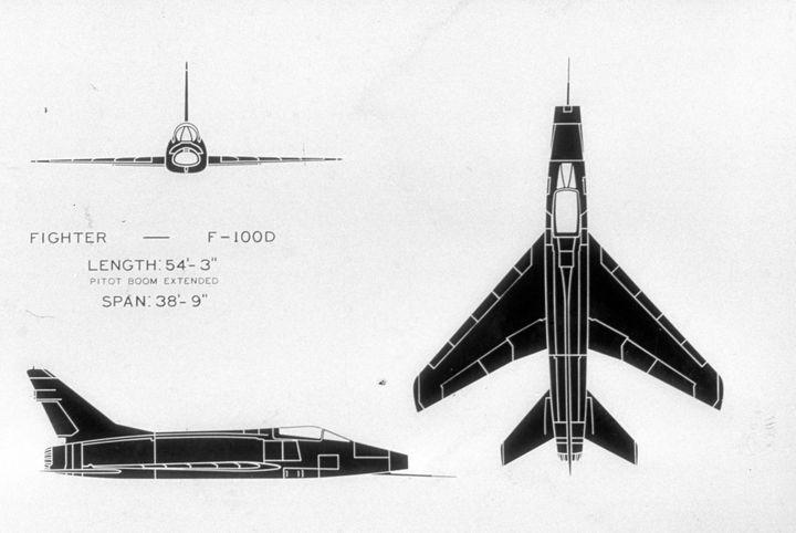 2107 F.100D SUPER SABRE USAF FIGHTER - MILITARY PHOTO PRINTS  UK