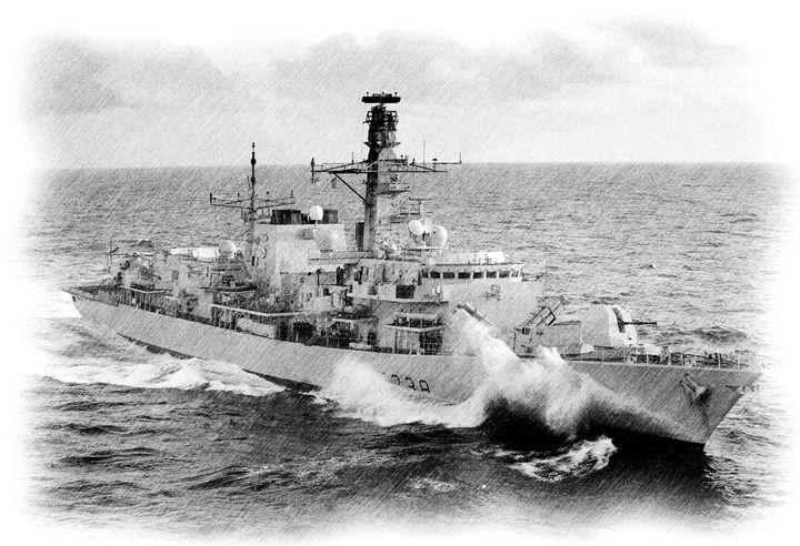 HMS Northumberland - MILITARY PHOTO PRINTS  UK