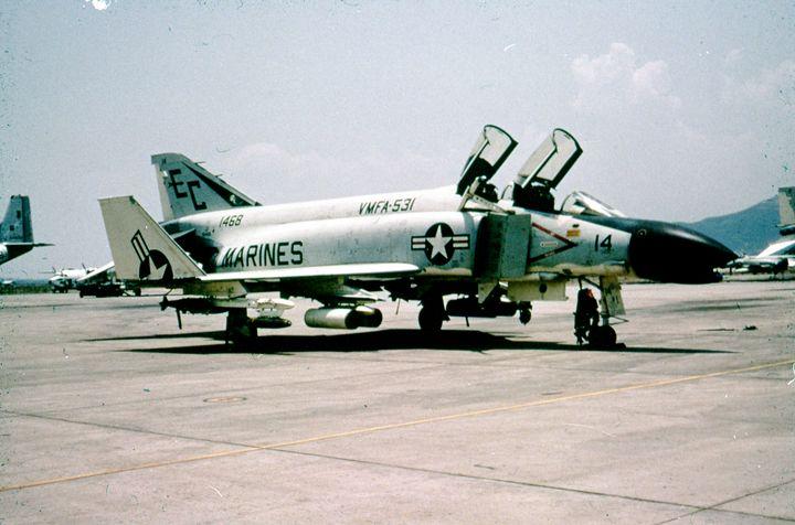 Wall Art Military Jet Photo Squadron of F-4 Phantoms Plane Poster Print