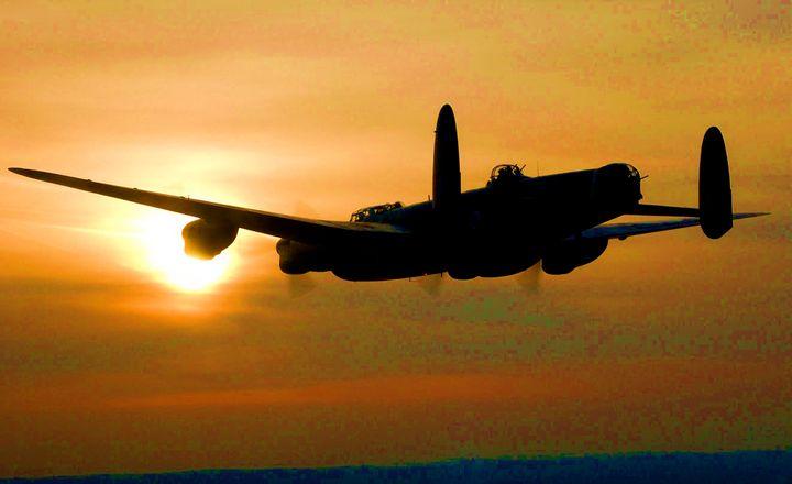 "RAF Lancaster ""HOME FOR BREAKFAST"" - MILITARY PHOTO PRINTS  UK"