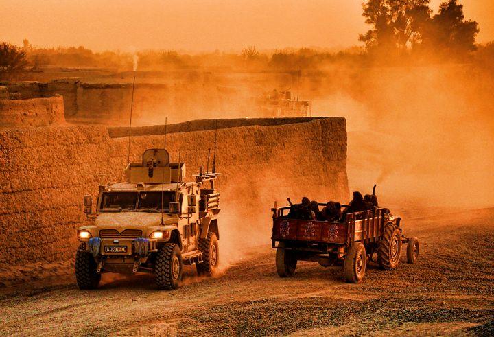Afgan Dawn Patrol - MILITARY PHOTO PRINTS  UK