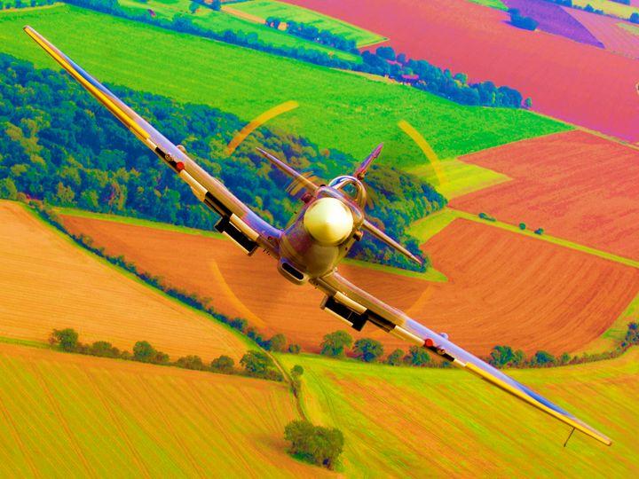 "RAF Spitfire ""Reach for the Sky"" - MILITARY PHOTO PRINTS  UK"