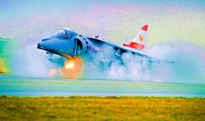 RAF The Harrier - MILITARY PHOTO PRINTS  UK