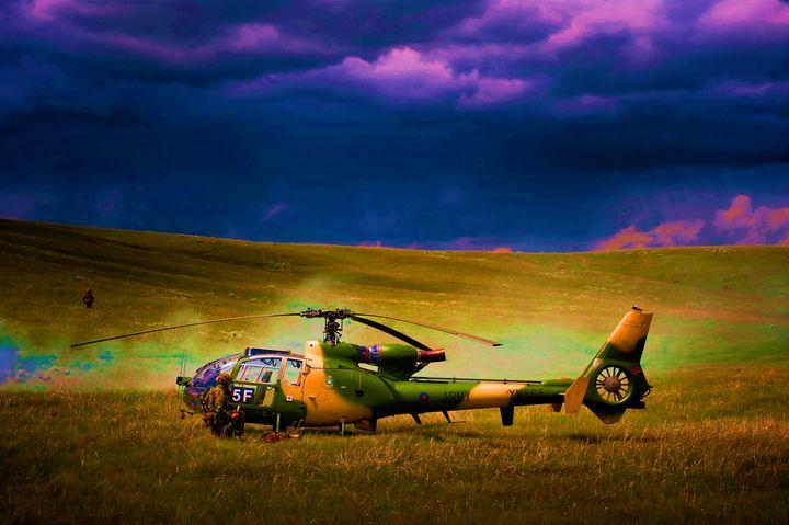 RAF Westland Gazelle - MILITARY PHOTO PRINTS  UK
