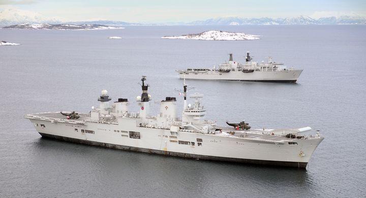 HMS Illustrious HMS Bulwark - MILITARY PHOTO PRINTS  UK