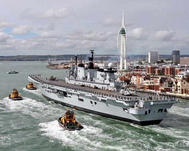 HMS Illustrious,Portsmouth - MILITARY PHOTO PRINTS  UK
