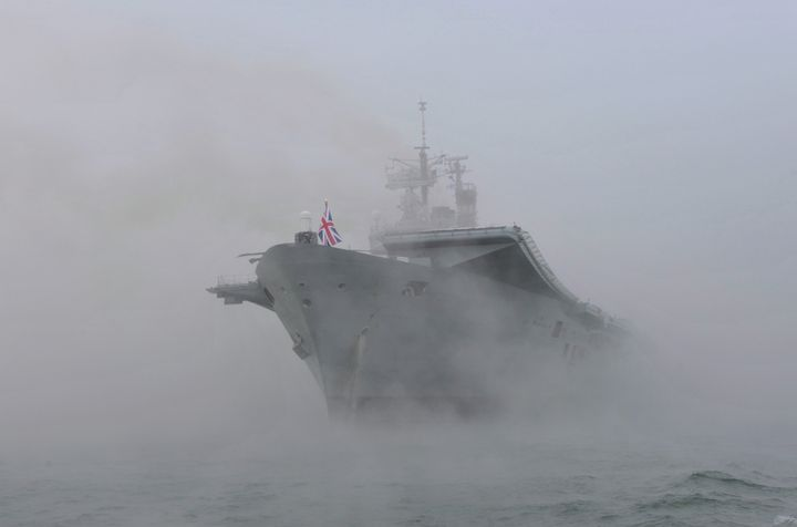HMS ARK ROYAL INTO THE MISTS OF TIME - MILITARY PHOTO PRINTS  UK