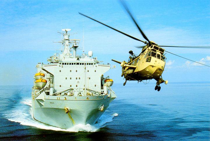 RFA ARGUS AND SEAKING HC4 - MILITARY PHOTO PRINTS  UK
