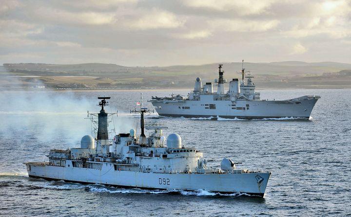HMS Ark Royal HMS Liverpool - MILITARY PHOTO PRINTS  UK