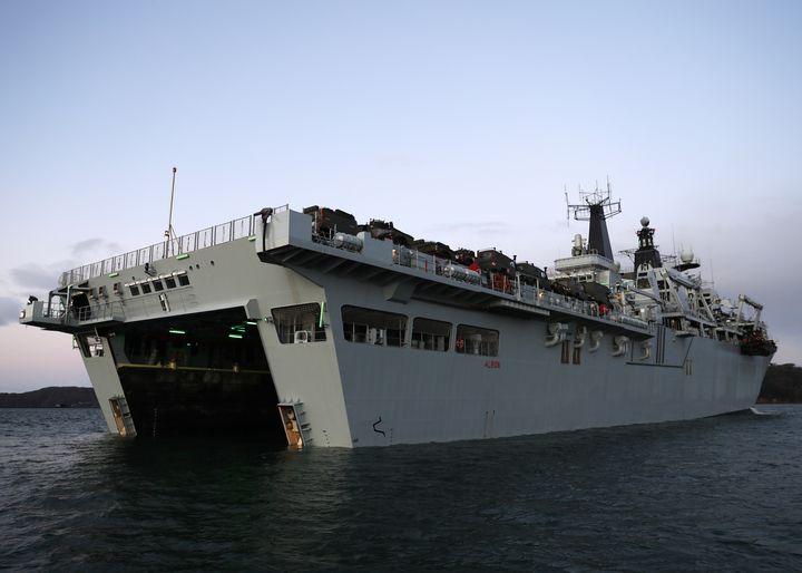 HMS ALBION - MILITARY PHOTO PRINTS  UK