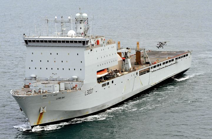 RFA Lyme Bay - MILITARY PHOTO PRINTS  UK