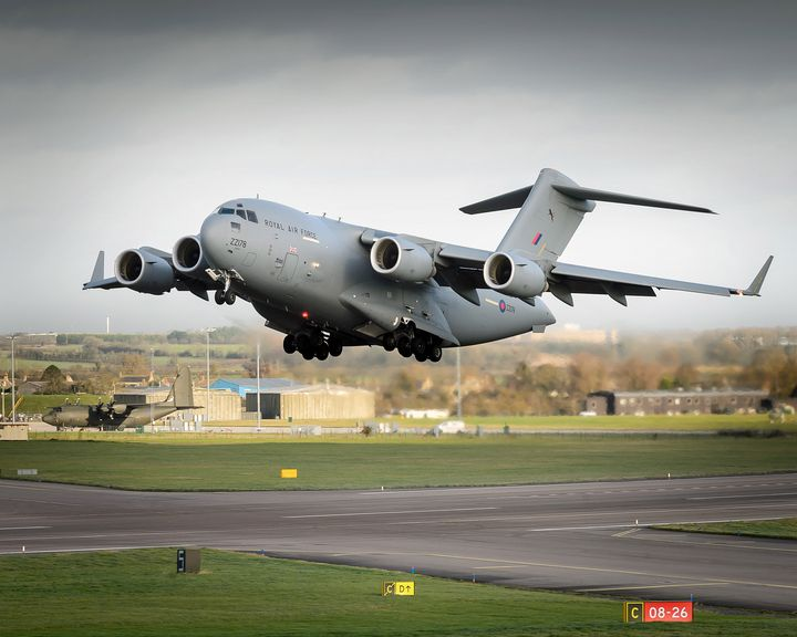 RAF Globemaster,C-17 - MILITARY PHOTO PRINTS  UK