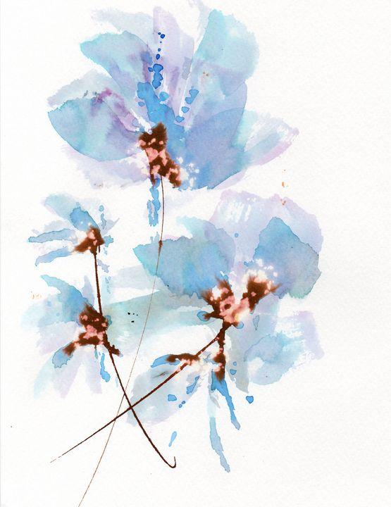 Blue poppies - ANN TURNER ART