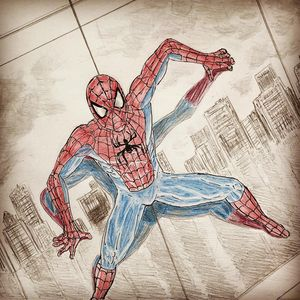 Spidey on wall
