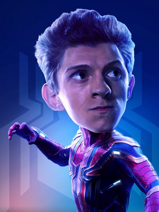 Spider-Man Tom Holland Caricature - madebyrivansyam
