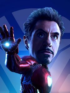 Iron Man RDJ Caricature