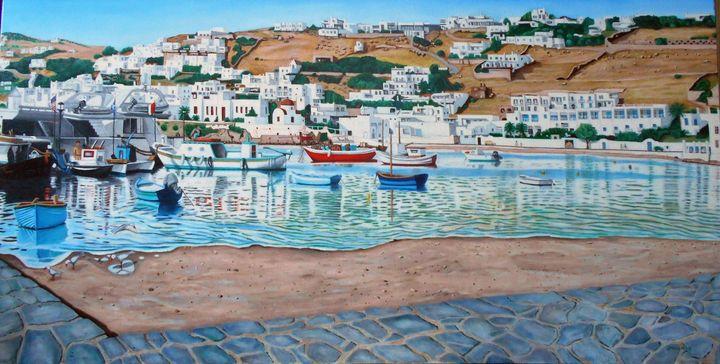 GREEK ISLAND PORT - My JP Art