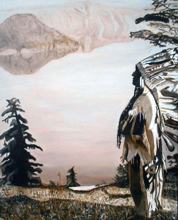 Indian Chief at  Crater Lake - My JP Art