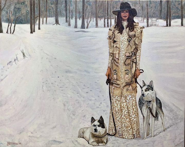 Woman in Snow - My JP Art