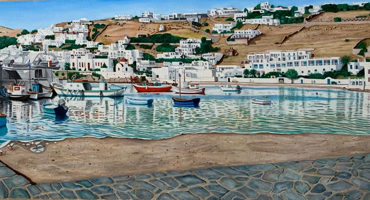 Greek Island Port - My JP Art
