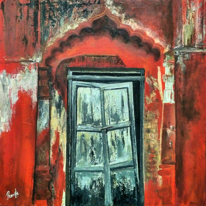 SCARE ME NOT -Rustic India 01 - Indiapaintingart Studio