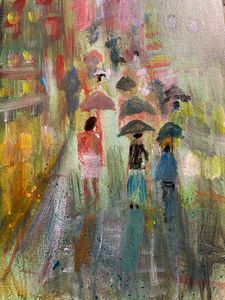 Rainy Day In Chinatown - Tom Gaudreau Art