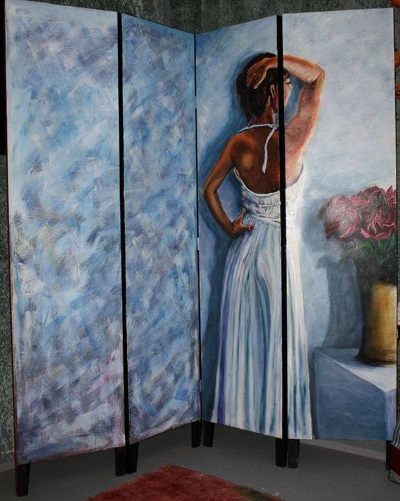 Woman in blue - Alta Art Factory