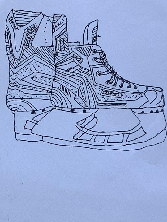 Ice Skates Sketch - Feliks Waskiewicz-dixon
