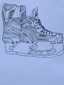 Ice Skates Sketch