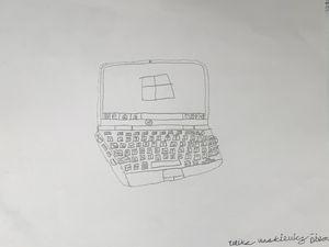 HP Laptop Sketch