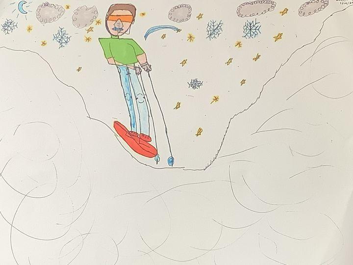 Skier Sketch - Feliks Waskiewicz-dixon