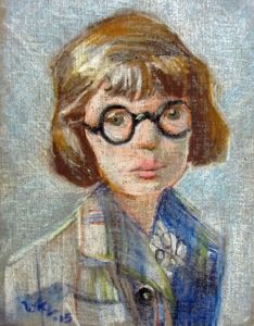 Young Girl with Thick Glasses