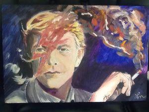 Bowie smoking lightning
