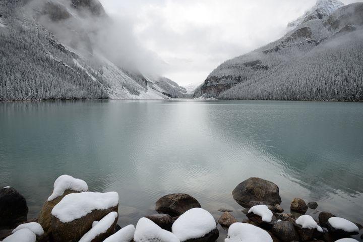 Snowy Lake Louise - PhotoLab