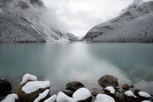 Snowy Lake Louise