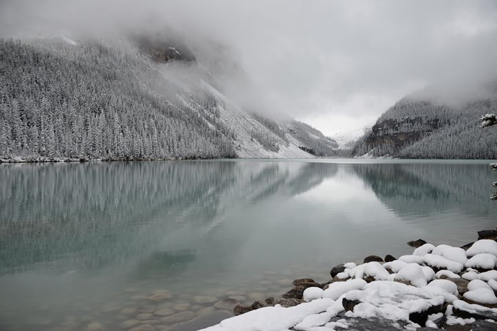Snowy Lake Louise III - PhotoLab