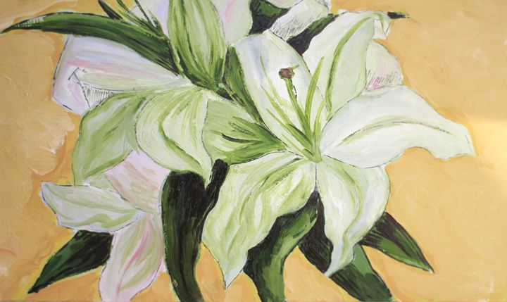 Mary Art Gallery: White Lily - Mary