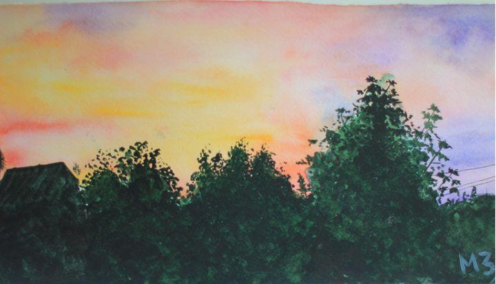 Mary Art: Sunset - Mary