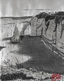 "Original drawing of ""Etretat"""