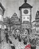 "Original drawing of ""Freiburg"""