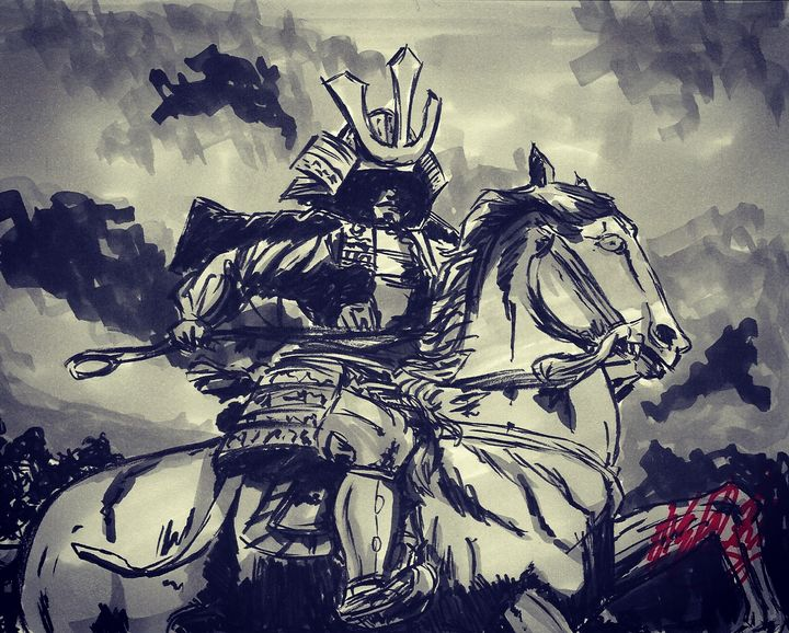 The samurai on horseback - Jonathan